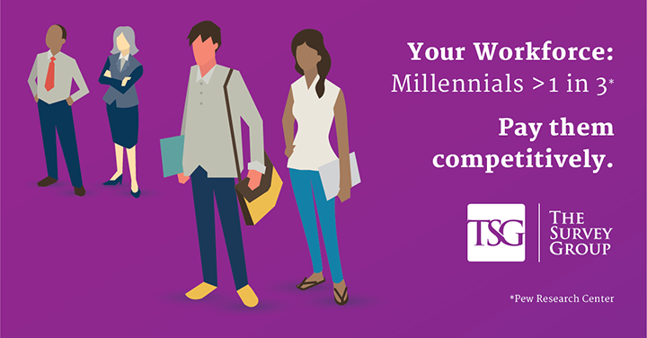 Your Workforce: Milleniums > 1 in 3. Pay them competitively.